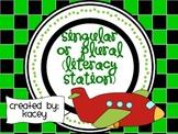Singular or Plural Literacy Station