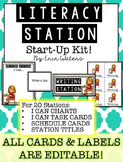 Literacy Station Starter Kit {Cards, Labels, Posters, & More!}