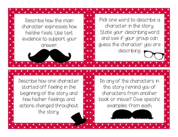 Literacy Station: Story Discussion Cards - Characters {Common Core Alinged}