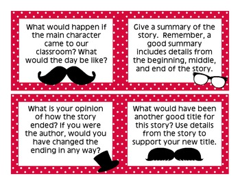Literacy Station - Story Discussion Cards {Common Core Aligned}