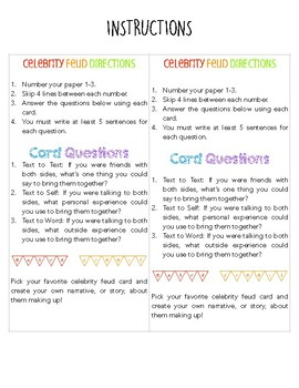 Literacy Station: Texts Connections