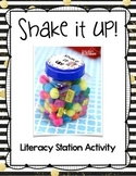 Literacy Station Word Game: Shake It UP!
