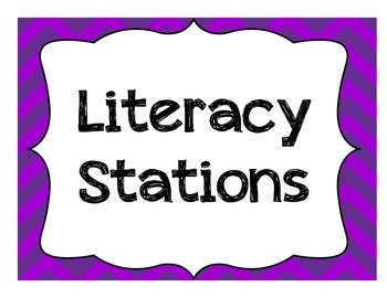 Literacy Station or Daily 5 Posters