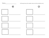 Literacy Station or Write the Room w/ long vowels (Differentiated)