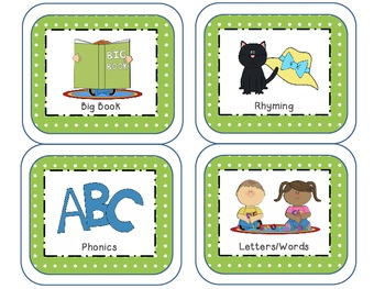 Literacy Station/Center Management Cards