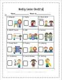 Literacy Station/Center Weekly Checklist