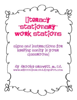 "Literacy ""Stationary"" Work Stations"