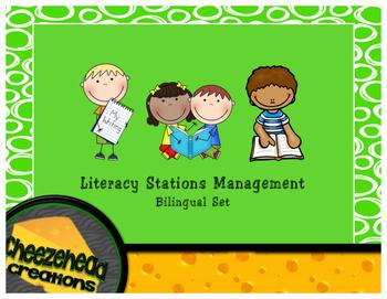 Literacy Stations Management  - Bilingual Set (English & Spanish)