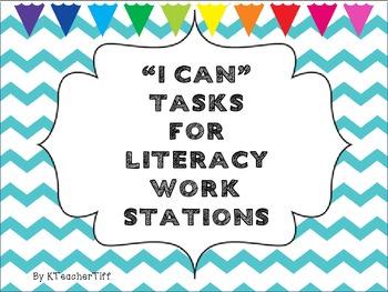 "Literacy Stations Chevron ""I Can"" Tasks"