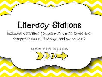 Literacy Stations - Comprehension, Word Work and Fluency