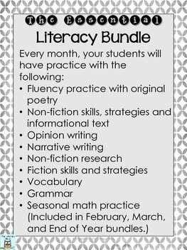 Literacy Centers Year Long Centers for Elementary Grades Mega Bundle