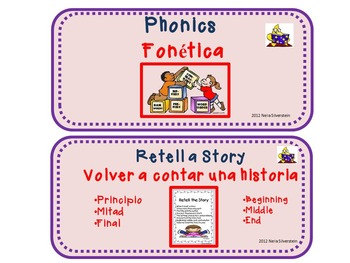 Literacy Stations Rotation-English and Spanish