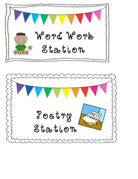 Literacy Stations Signs