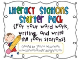 Literacy Stations Starter Pack