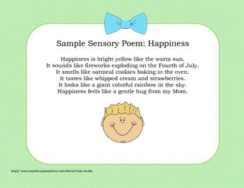 Literacy Stations - Writing Sensory Poems
