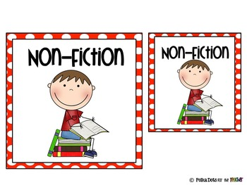 Red and White Polka Dot Literacy Stations