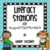 Literacy Stations for August & September