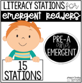 Literacy Stations for Emergent Readers {15 Stations}