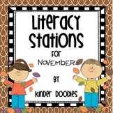 Literacy Stations for November