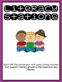 Literacy Stations for the Beginning of the Year