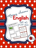 Literacy Stations in English - Set 1 - Suitable for 5th/6th class