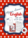 Literacy Stations in English - Set 3 - Suitable for 5th/6th class