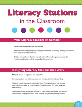 Literacy Stations in the Classroom