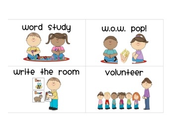 Literacy Stations/Centers Signs and posters