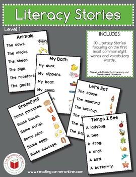 Literacy Stories - Level 1 - Digital Download