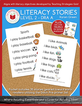 Literacy Stories - Level 2 - Digital Download