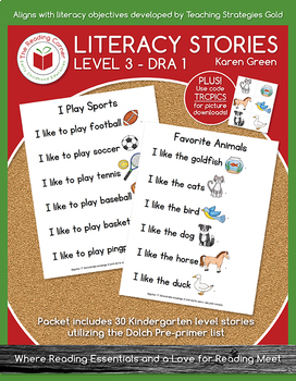 Level 3 Literacy Stories