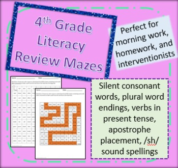 Literacy Strategies Mazes