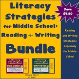 Literacy Strategies Strategies for Middle School: Reading and Writing Bundle
