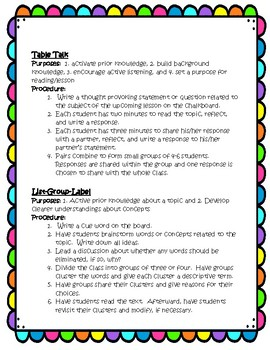 Literacy Strategies that Encompass Active Engagement