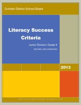 Literacy Success Criteria PREVIEW