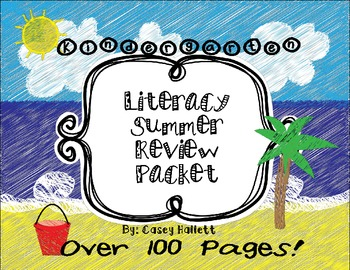 Literacy Summer Review Packet {Kindergarten}