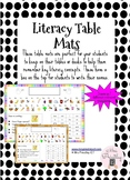 Literacy Table Mats