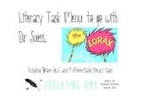 Literacy Task Menu - Lorax Themed
