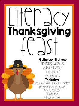 Literacy Thanksgiving Feast - Review of Skills (Any Subject Area)