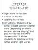 Literacy Tic-Tac-Toe