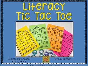 Literacy Tic Tac Toe