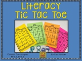 Literacy Tic Tac Toe {letter recognition and letter-sound