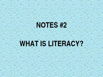 Literacy Timeline