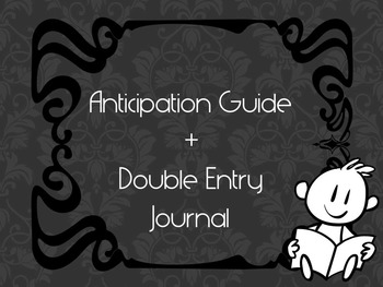 Literacy Tool: Anticipation Guide + Double Entry Journal for reading and writing