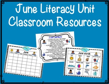 June Literacy Unit:  Commotion in the Ocean;  Whales; Beach Day & Rainbow Fish