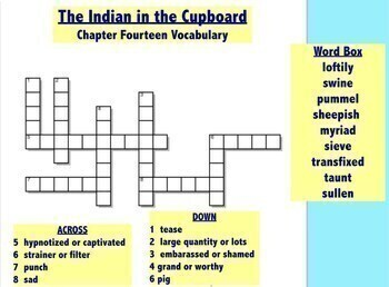 The Indian in the Cupboard Book Study
