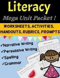 Literacy Unit Activities: Narrative, Persuasive Writing, S