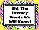 Literacy Vocabulary Mega Pack to Support the Common Core