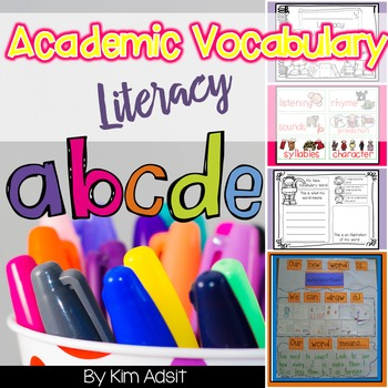 Literacy Academic Vocabulary Packet and Word Wall