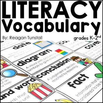 Literacy Vocabulary Word Wall Cards K-2